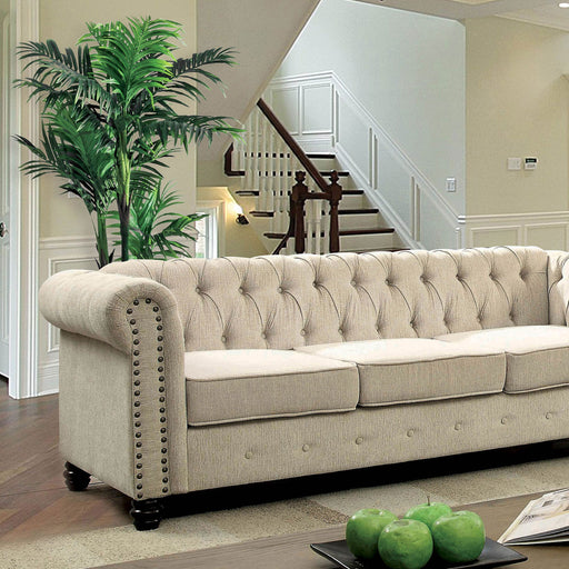 Winifred Ivory Sofa - Canales Furniture