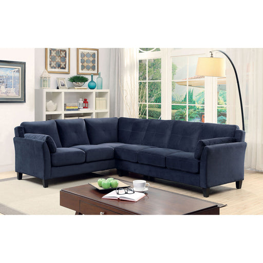 PEEVER II Navy Sectional, Navy (K/D) - Canales Furniture