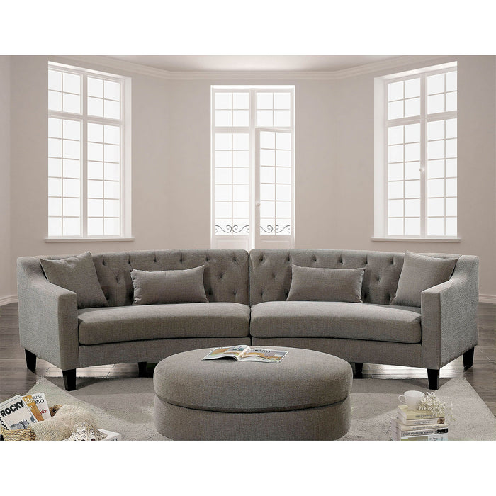 SARIN Warm Gray Sectional - Canales Furniture