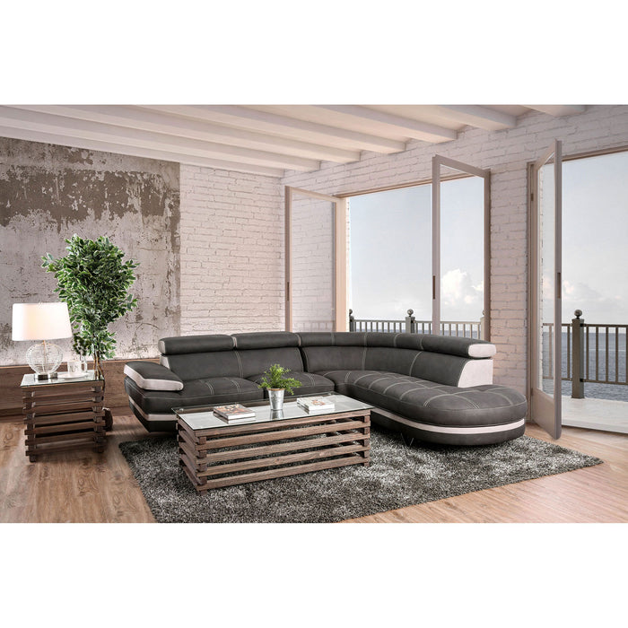 Picard Graphite/Beige Sectional - Canales Furniture