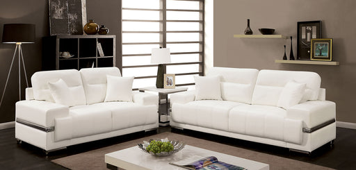 ZIBAK White Sofa + Love Seat - Canales Furniture