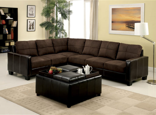 Lavena Chocolate/Espresso Sectional, Chocolate - Canales Furniture