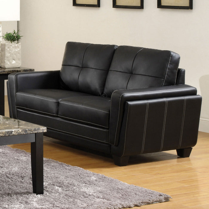 Blacksburg Black Love Seat - Canales Furniture