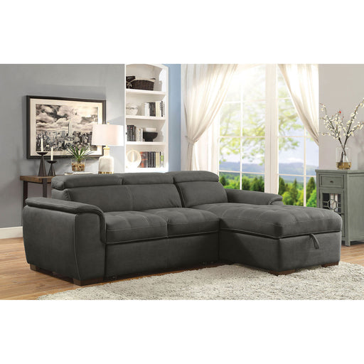 Patty Graphite Sectional, Graphite - Canales Furniture