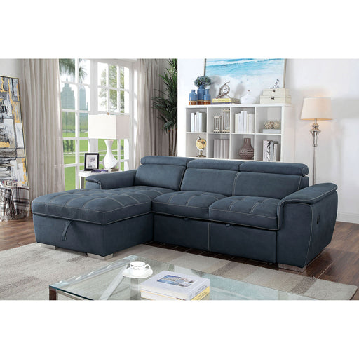 Patty Blue Gray Sectional, blue - Canales Furniture