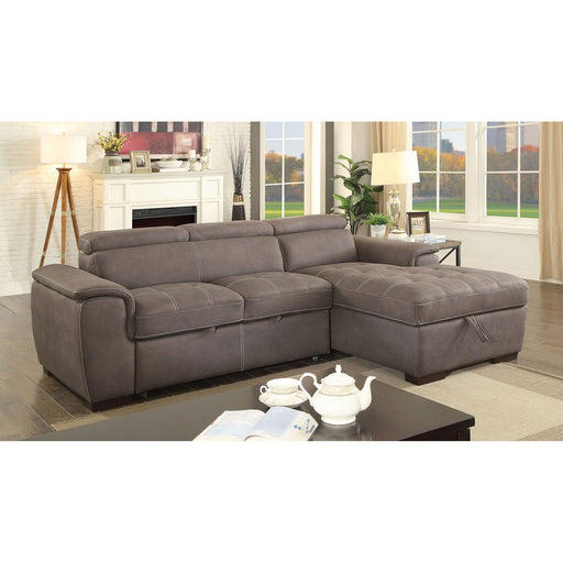 Patty Ash Brown Sectional, Ash Brown - Canales Furniture