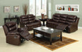 Berkshire Rustic Brown Sofa + Love Seat - Canales Furniture