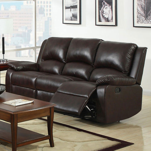 Oxford Rustic Dark Brown Motion Sofa - Canales Furniture