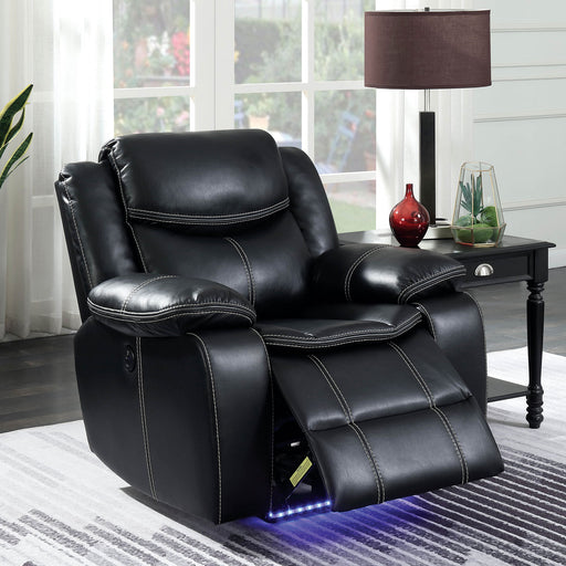 Sirius Black Recliner - Canales Furniture