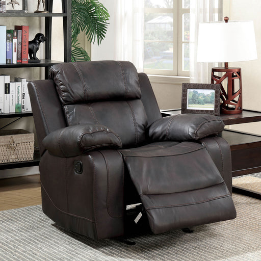 Pondera Brown Recliner - Canales Furniture