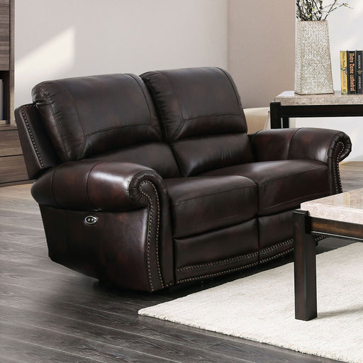 Edmore Brown Power-Assist Love Seat - Canales Furniture