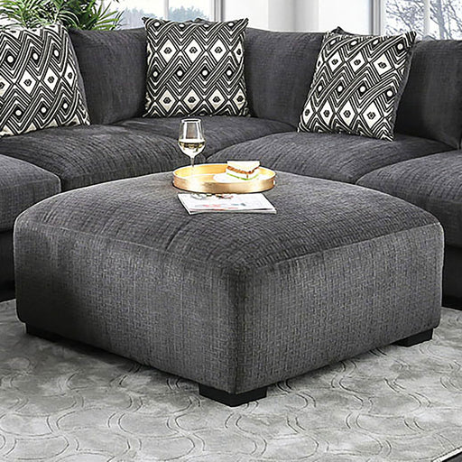 Kaylee Gray Ottoman - Canales Furniture
