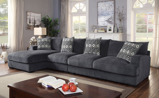 Kaylee Gray Large L-Shaped Sectional - Canales Furniture