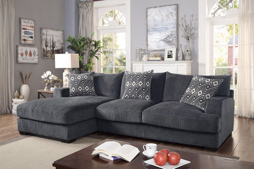 Kaylee Gray L-Shaped Sectional - Canales Furniture
