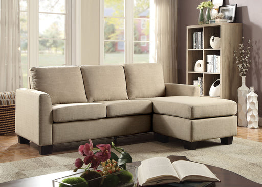 Erin Beige Sectional - Canales Furniture