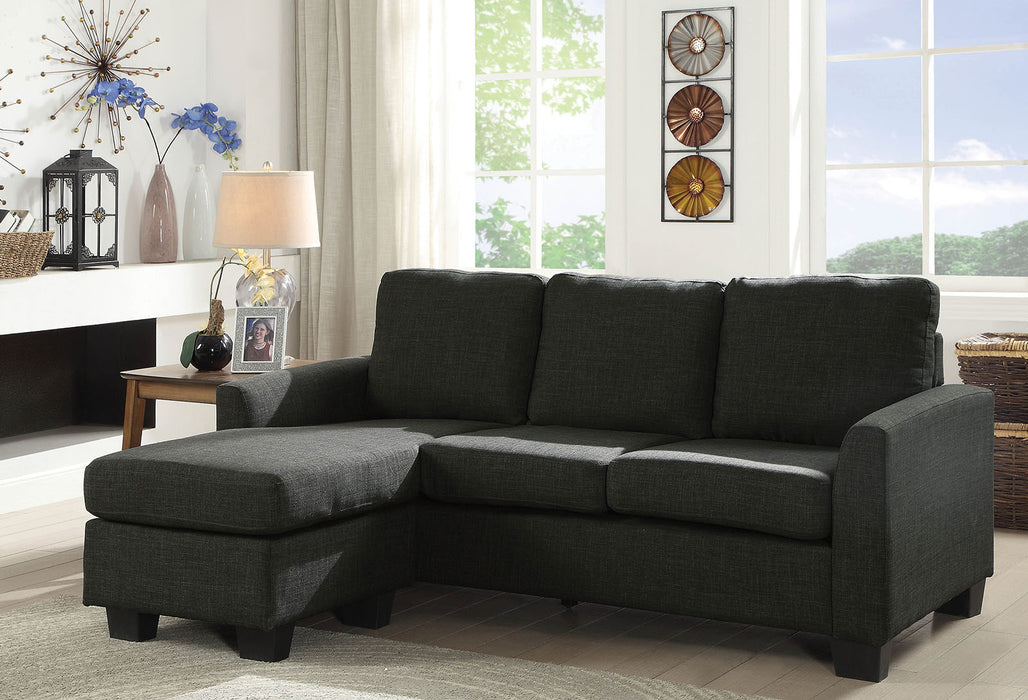 Erin Dark Gray Sectional - Canales Furniture