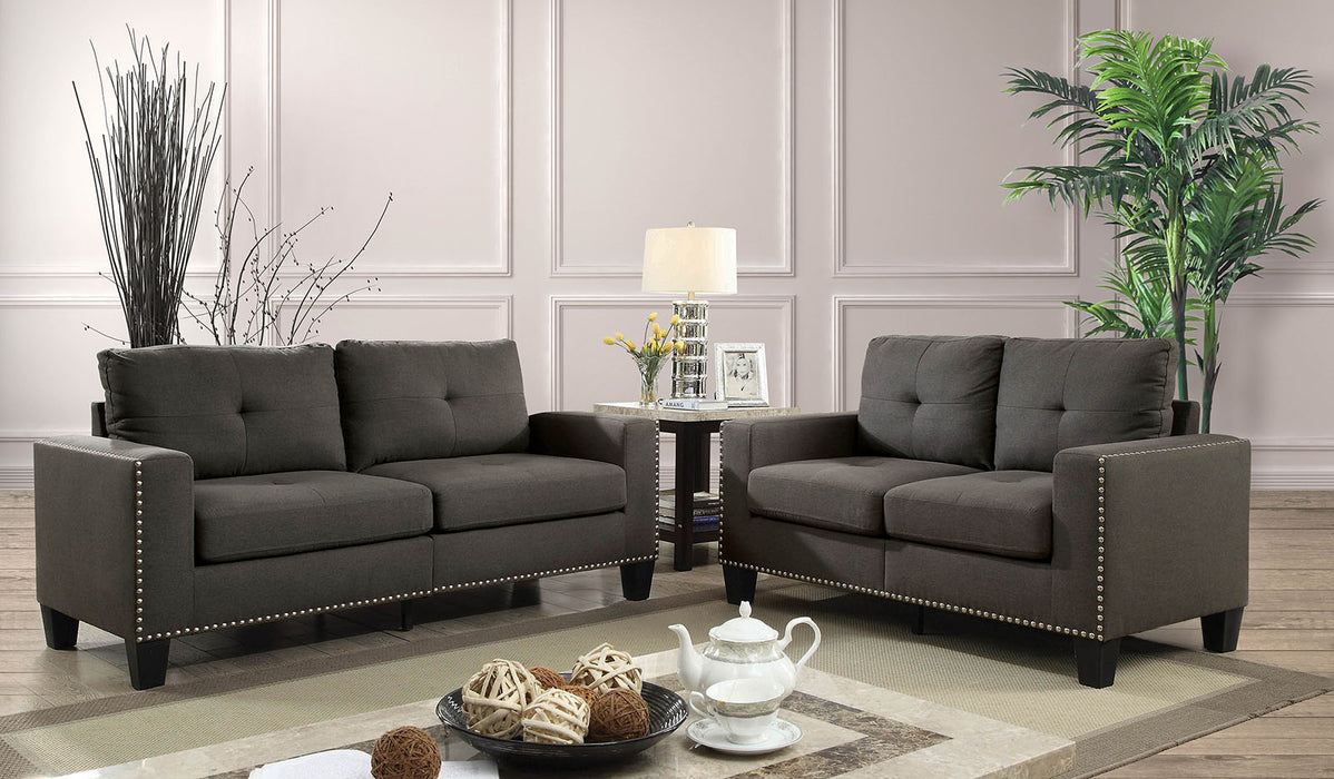 Attwell Gray Sofa + Love Seat - Canales Furniture