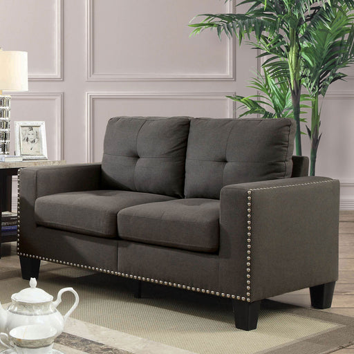 Attwell Gray Love Seat - Canales Furniture