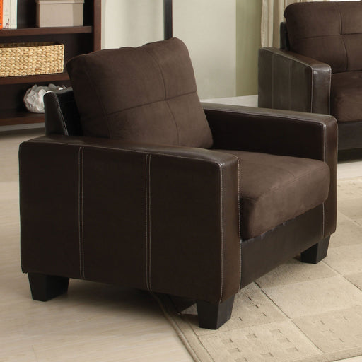 Laverne Chocolate/Espresso Chair, Chocolate - Canales Furniture
