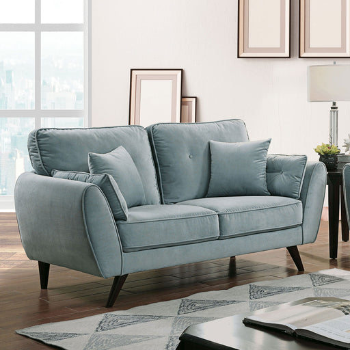 Phillipa Light Teal Love Seat - Canales Furniture