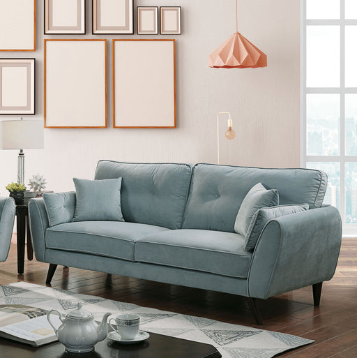 Phillipa Light Teal Sofa - Canales Furniture