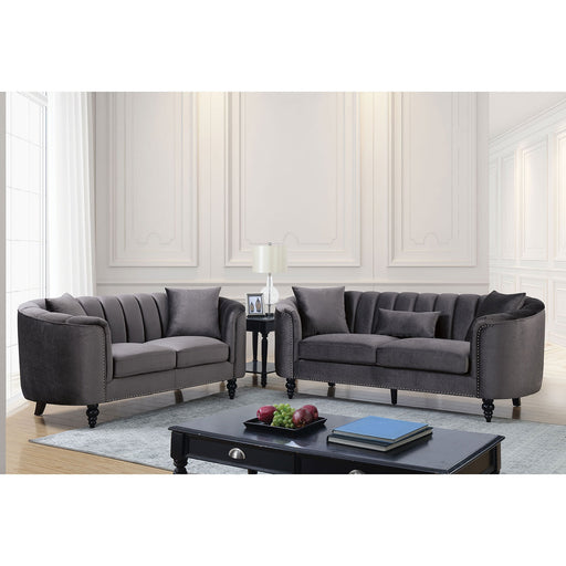 Linnea Gray Sofa + Love Seat - Canales Furniture