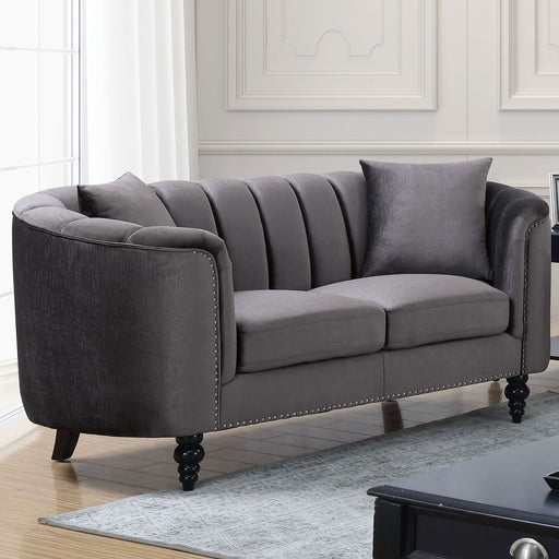 Linnea Gray Love Seat - Canales Furniture