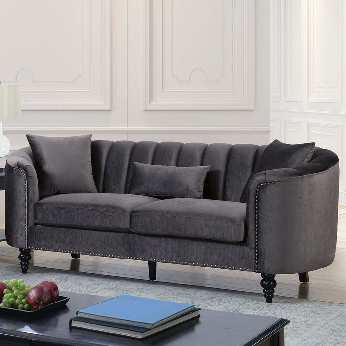 Linnea Gray Sofa - Canales Furniture
