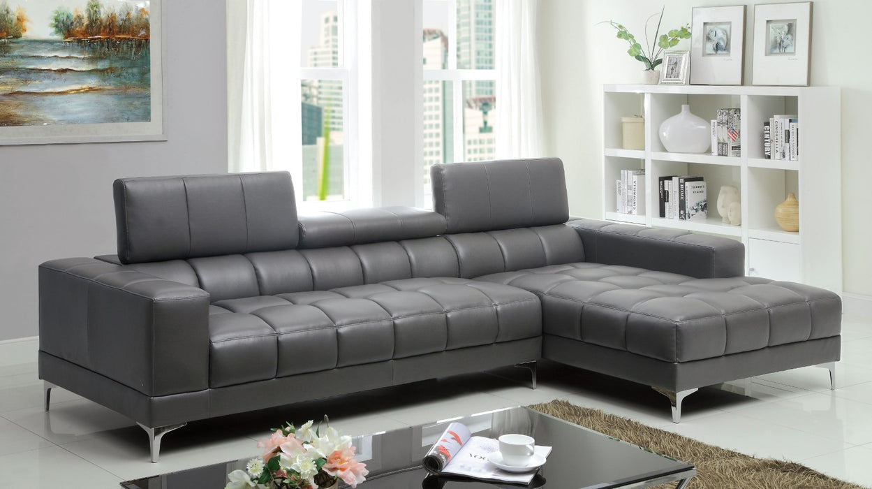Bourdet II Gray Sectional, Gray - Canales Furniture