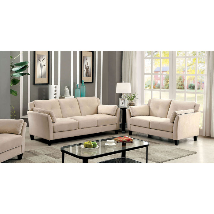 YSABEL Beige Sofa + Love Seat, Beige - Canales Furniture