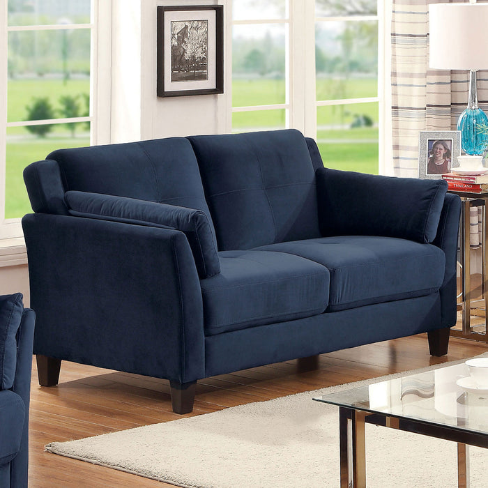 YSABEL Navy Love Seat, Navy (K/D) - Canales Furniture
