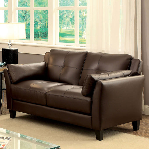 YSABEL Brown Love Seat, Brown (K/D) - Canales Furniture