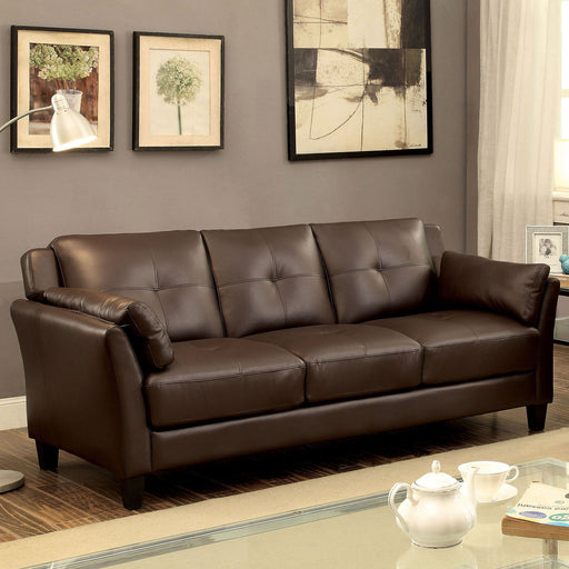 YSABEL Brown Sofa, Brown (K/D) - Canales Furniture
