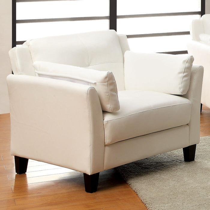 Pierre White Chair, White (K/D) - Canales Furniture