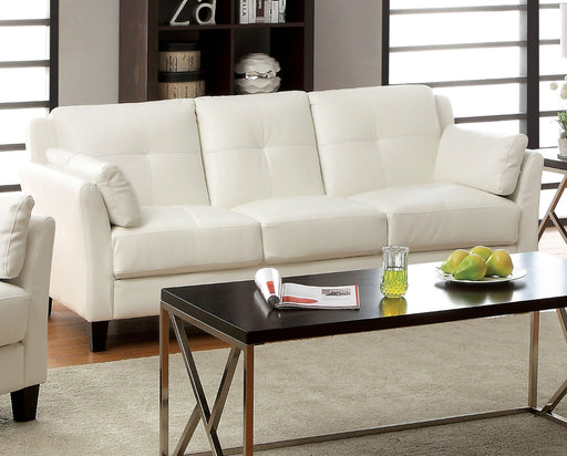 Pierre White Sofa, White (K/D) - Canales Furniture