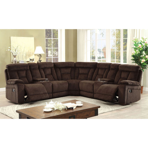 Maybell Brown SECTIONAL, BROWN - Canales Furniture