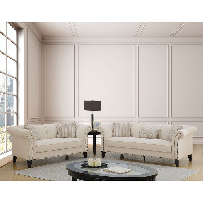 Clarabelle Beige Sofa + Love Seat - Canales Furniture