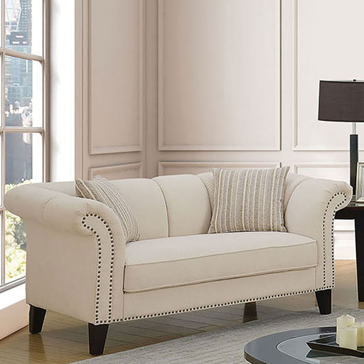 Clarabelle Beige Love Seat - Canales Furniture