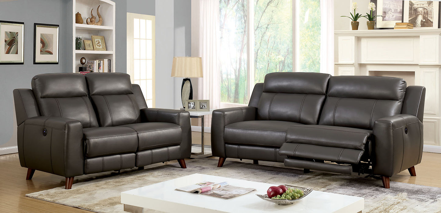 Rosalynn Gray Sofa + Love Seat - Canales Furniture