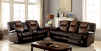 POLLUX Dark Brown, Light Brown Sofa + Love Seat - Canales Furniture
