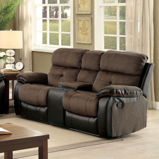 Hadley I Brown/Black Love Seat - Canales Furniture
