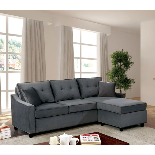 Hakin Gray Corner Sofa Sets - Canales Furniture