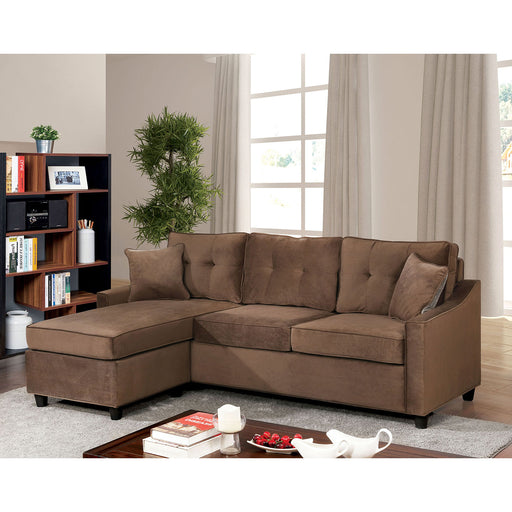 Hakin Brown Corner Sofa Sets - Canales Furniture
