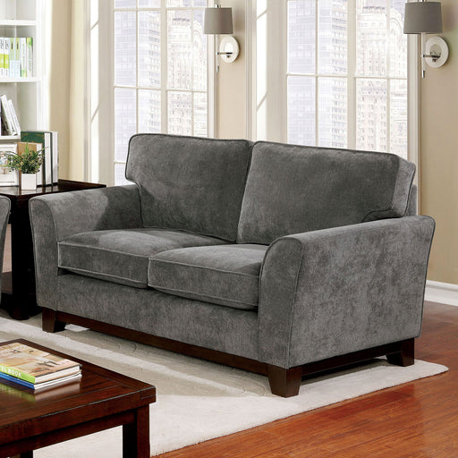 Caldicot Gray Love Seat - Canales Furniture