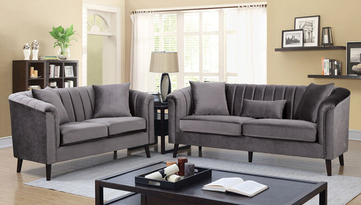 Dawn Gray Sofa + Love Seat - Canales Furniture
