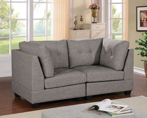 Pencoed Light Gray Love Seat - Canales Furniture