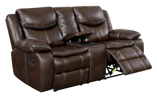 Pollux Brown Love Seat - Canales Furniture