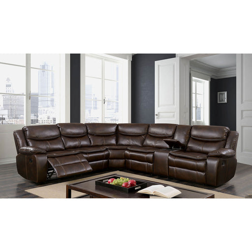 Pollux Brown Sectional - Canales Furniture