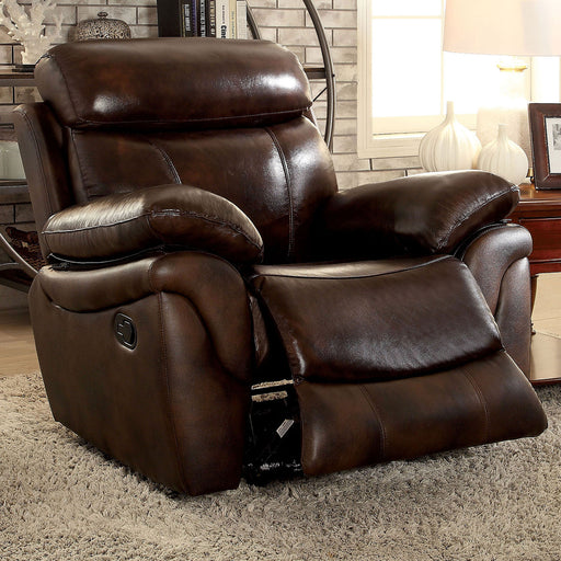 KINSLEY Brown Recliner - Canales Furniture