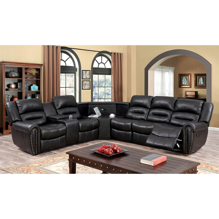 WALES Dark Brown Sectional - Canales Furniture